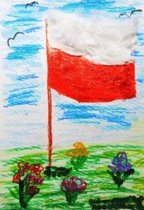 Praca flaga Polski